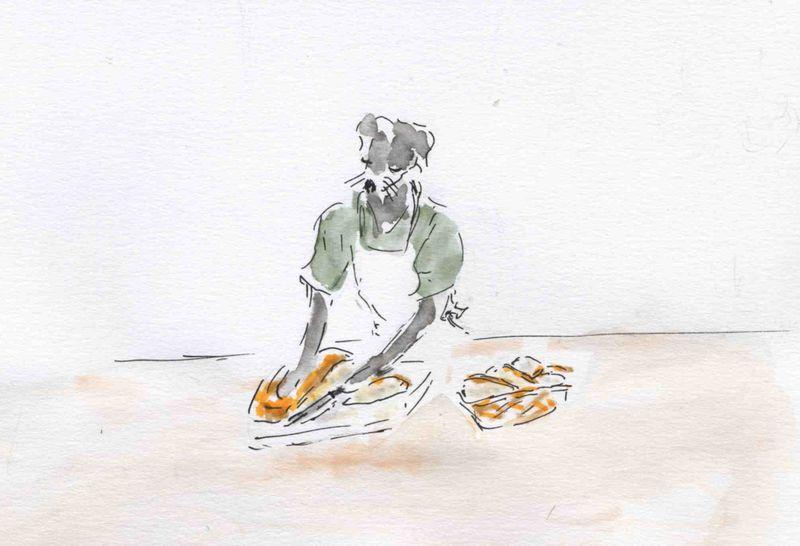 54) pain sur planche