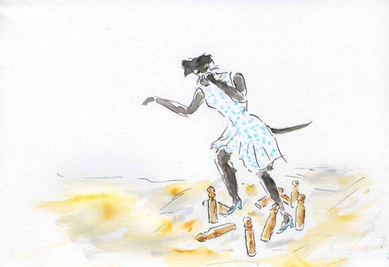 88) chien quille