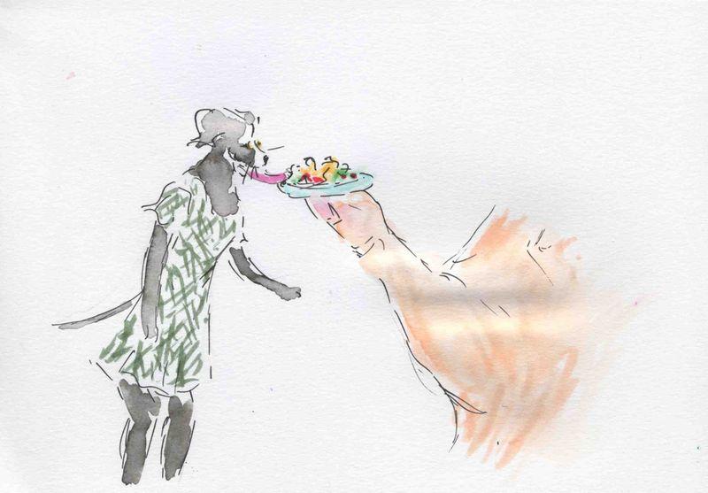 184) manger sur pouce
