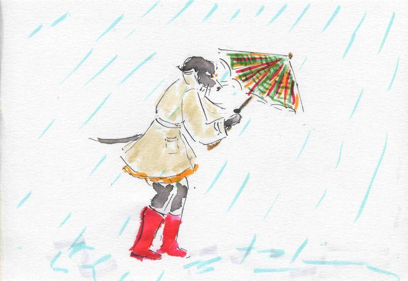 16) ouvrir parapluie