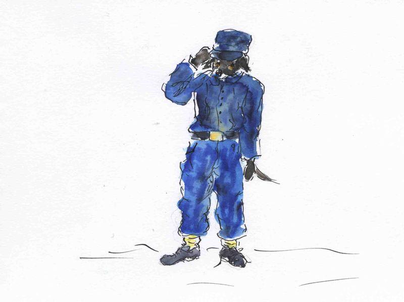 34) être un bleu