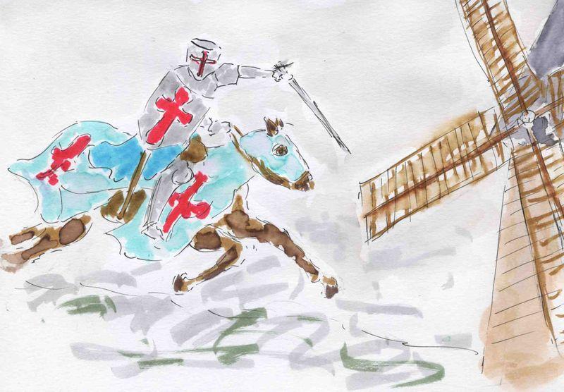 31) battre contre moulins