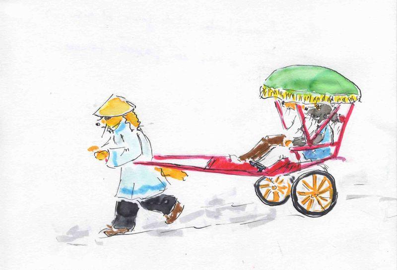 4) être transporté(aise)