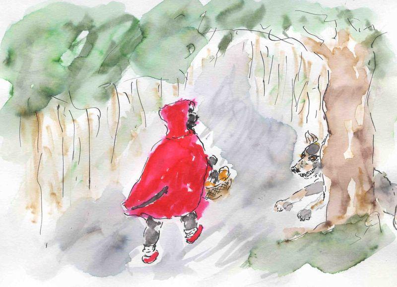 19) Ya un loup