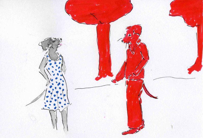 37)voir rouge