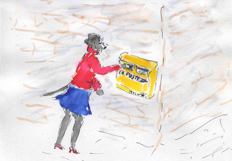 166) Passer lettre boîte