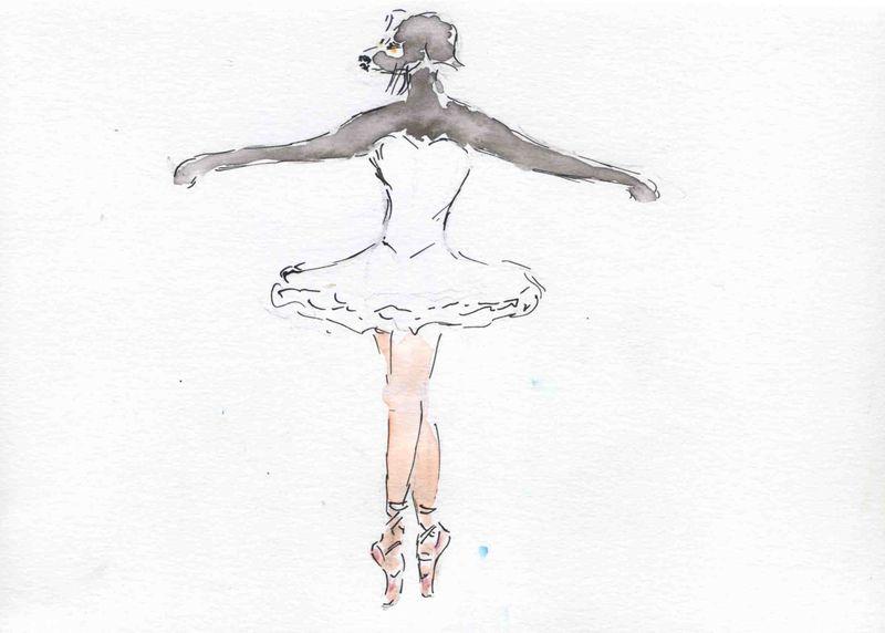 5o) sur pointe de pied