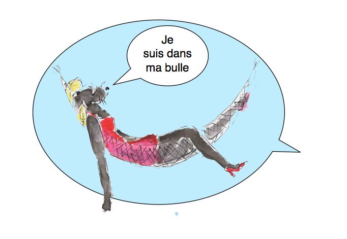 95a) etre dans sa bulle