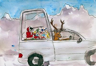 Noël 2012 papamobile