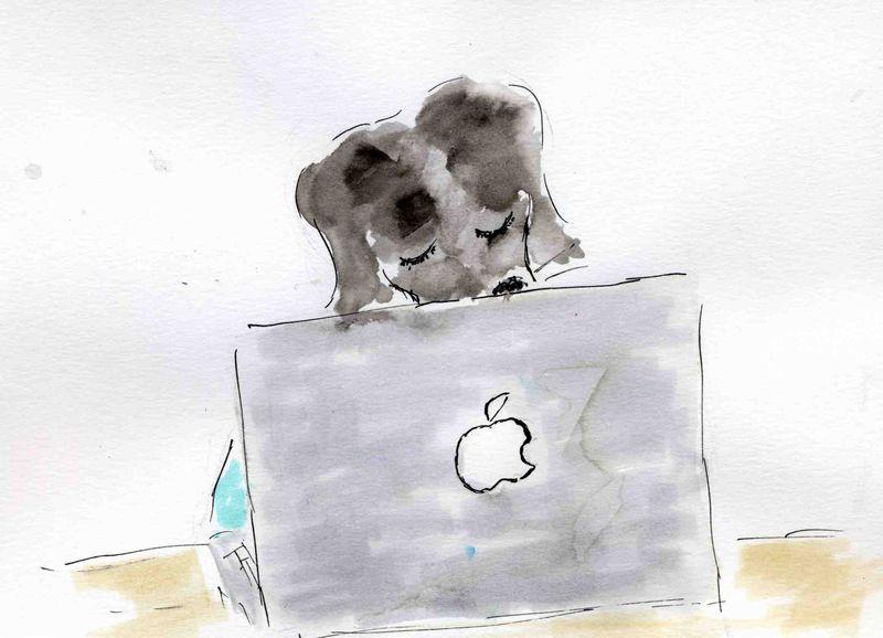 46) croquer la pomme