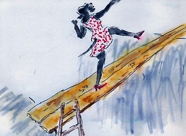 136)monter sur les planches