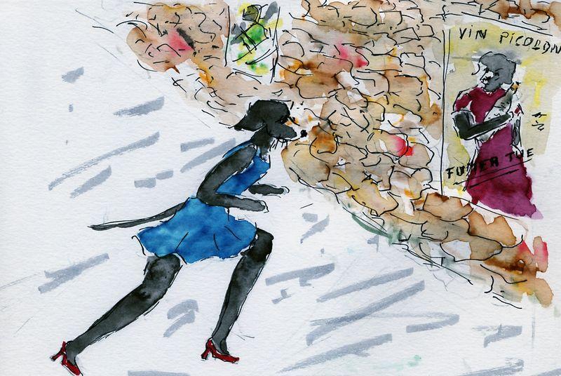 179)Aller droit dans mur
