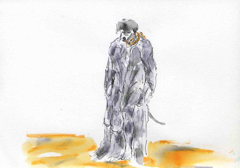 132) corde au cou