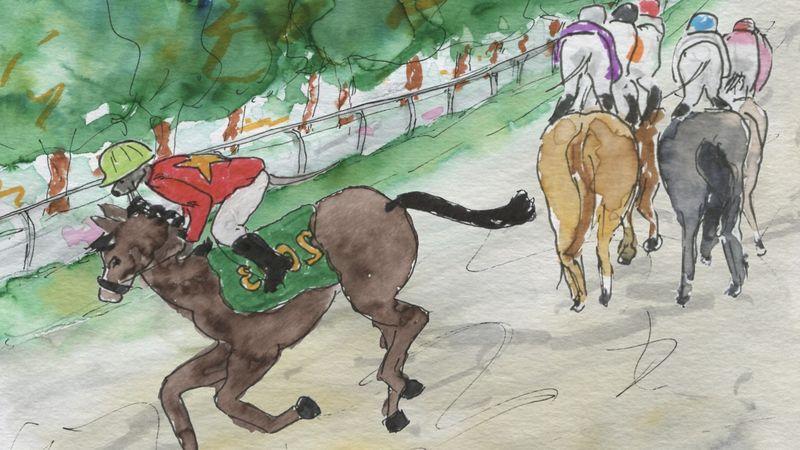 345) mauvais cheval