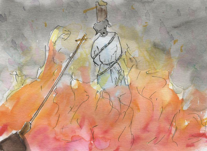 381) griller au poteau