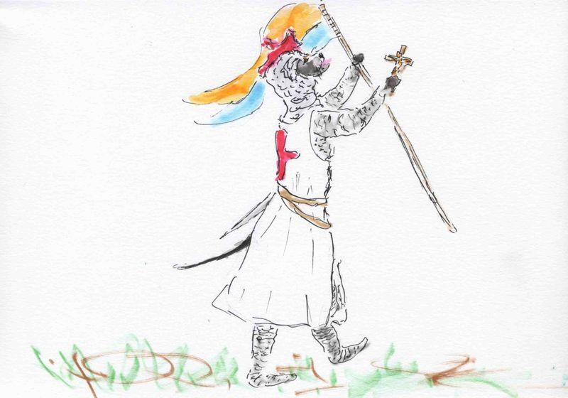 130) croix et bannière