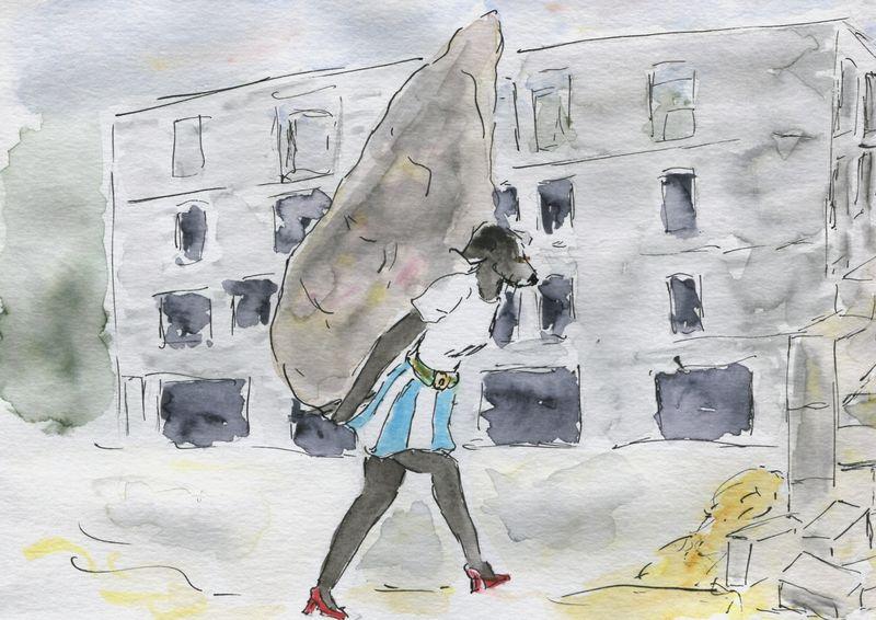 346) apporter pierre à édifice