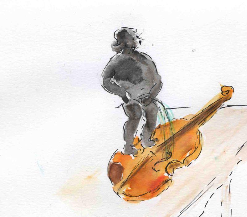 100) Pisser dans un violon