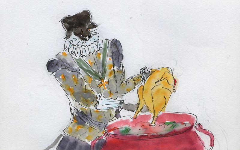 256) Poule mouillée