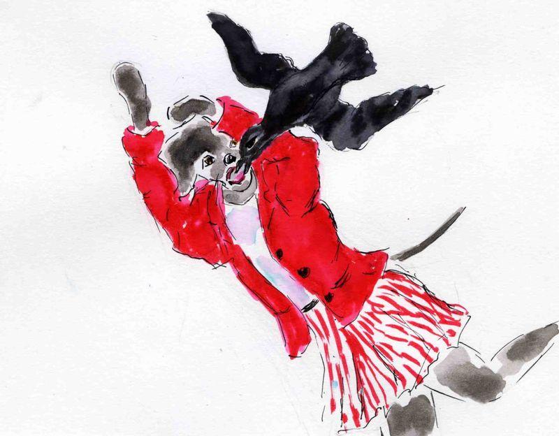 93) être un corbeau