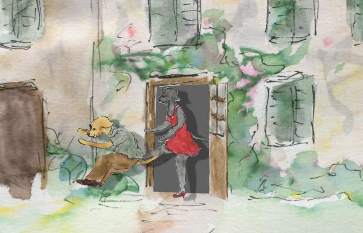 537) sortir par la porte