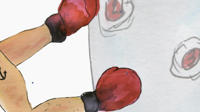 628)servir punching-ball