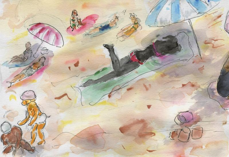 641) Etre sur le sable