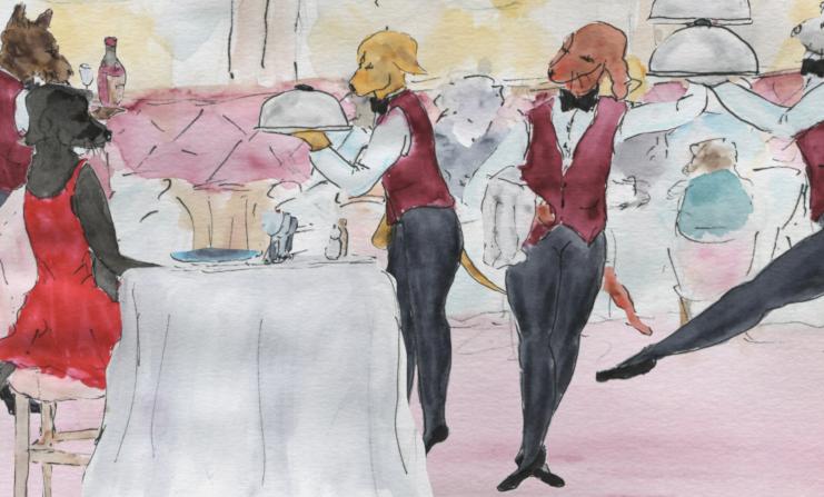 651) Ballet de serveurs