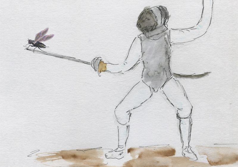 500)A fleuret moucheté
