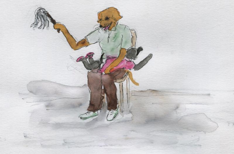 741) De plein fouet