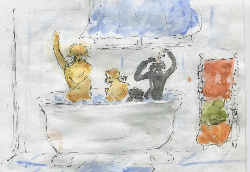 781) Dans le m-eme bain