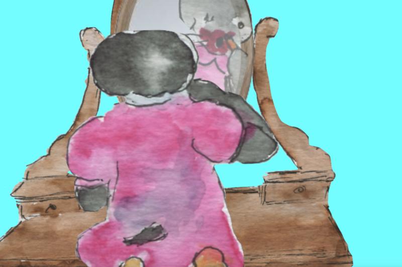 807 ) Piquer un fard